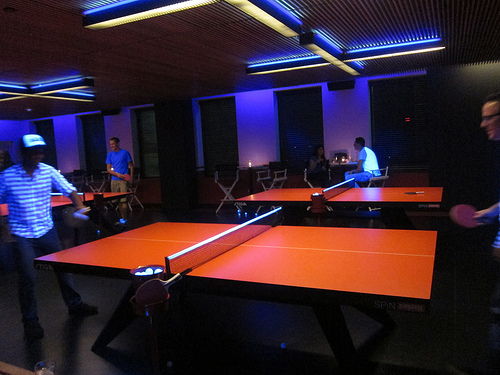 Dtla Ping Pong At Spin Galatic Club At The Standard The