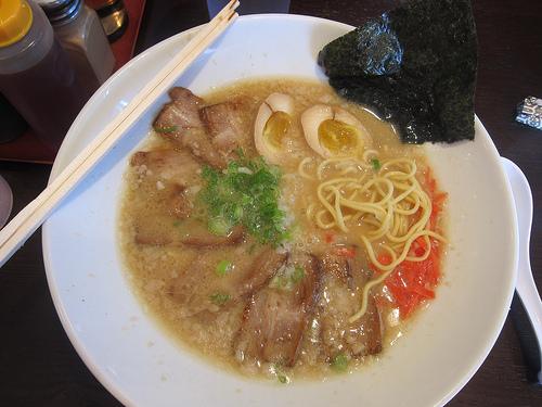 chasu tonkotsu ramen at Umenoya