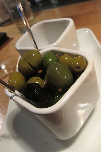 olives in vermouth