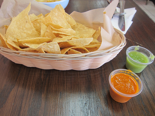 warm chips and salsa