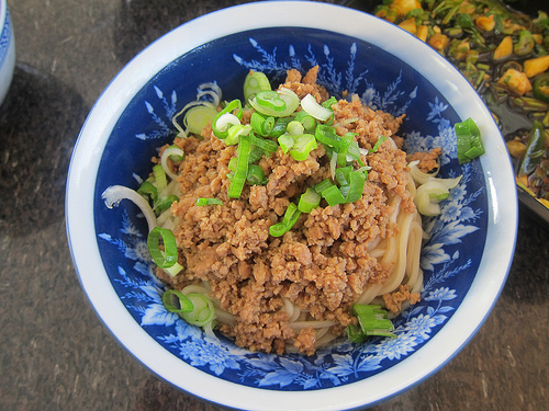 noodles with minced meat