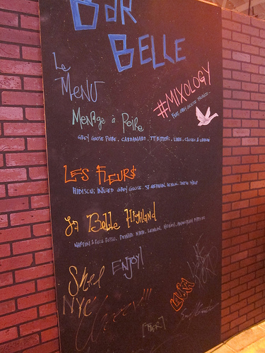 Bar Belle's menu