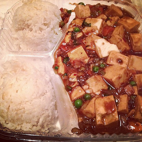 (vegetarian) mabo tofu from Beijing House