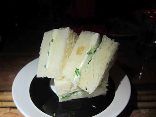 James Beard's favorite onion and butter sandwich