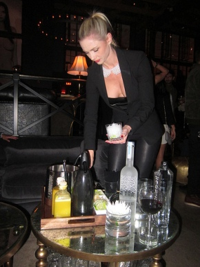 """bottle service"" with a twist"