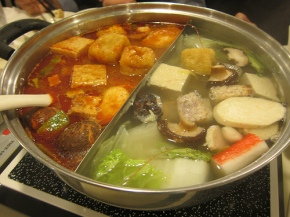 Lu Gi - hot pot with spicy and Napa cabbage broths