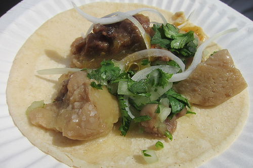 bone marrow taco from Chef Laurent