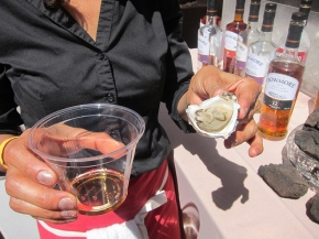 Oyster luge with Bowmore