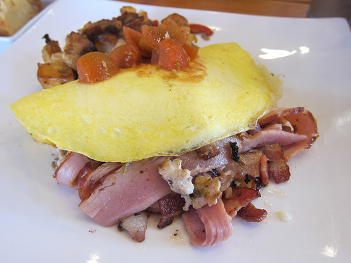 Chicken and Smoked Meats Omelette