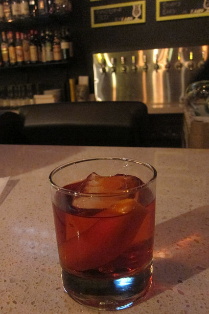 23-day barrel aged Negroni