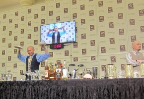 Jason Asher competing at the Iron Mixologist Competition