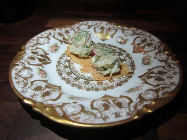 crab toast - amuse bouche