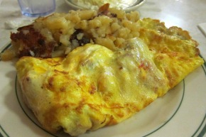 Ham and cheese omlette