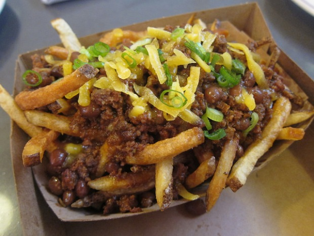 beef tallow fries with chili
