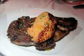 ribeye with foie gras