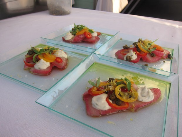 Palihouse Courtyard Brasserie - hamachi carpaccio
