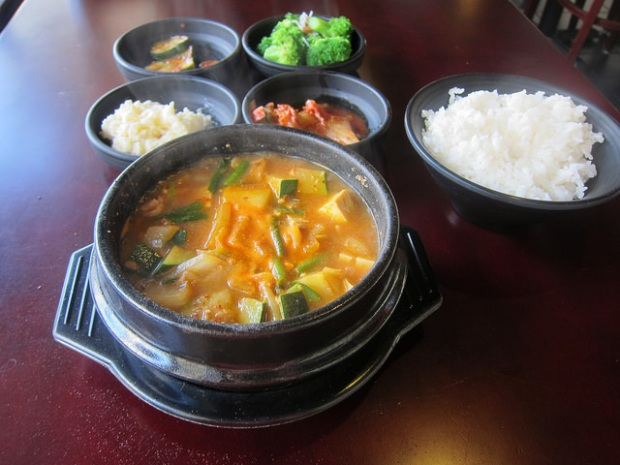 Seafood and Beef Doenjang Tang