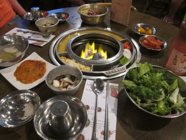 banchan at Baekjeong