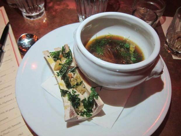 onion soup with bone marrow
