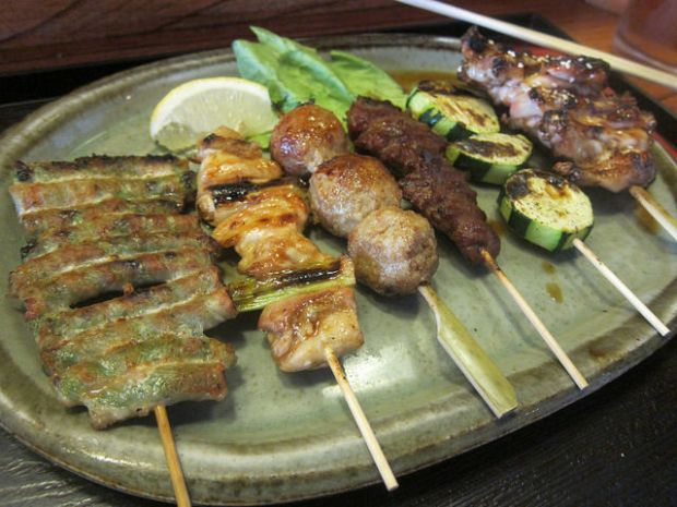 you get 6 yakitori skewers with the combo