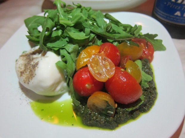 burrata with tomato