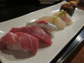 assorted sushi at Mako