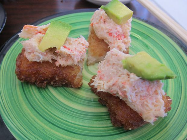 crab and avocado toast
