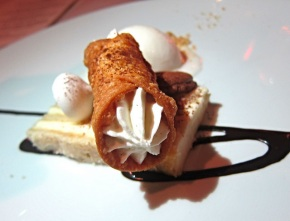 tiramisu, canoli and Peroni beer gelato