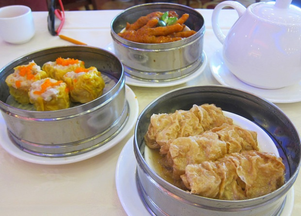 siu mai,  chicken feet, tofu wrapped veggies
