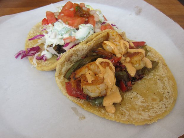 fish and shrimp tacos
