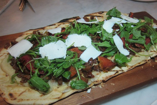 lamb merguez flatbread