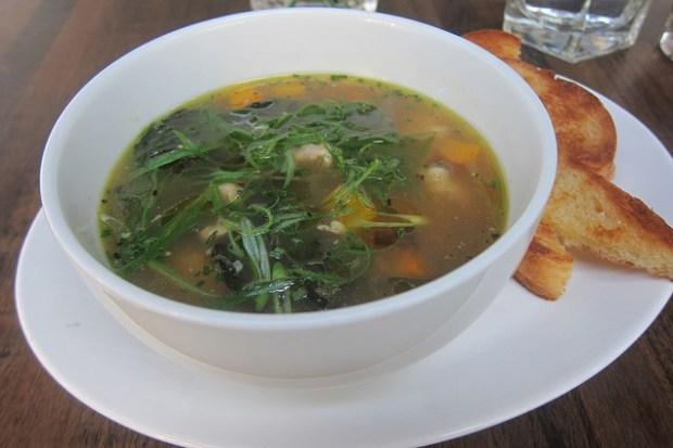 chicken-farro soup