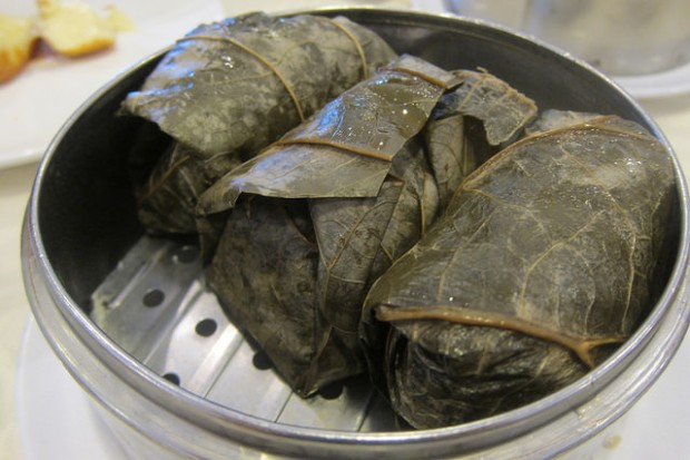 lotus wrapped sticky rice
