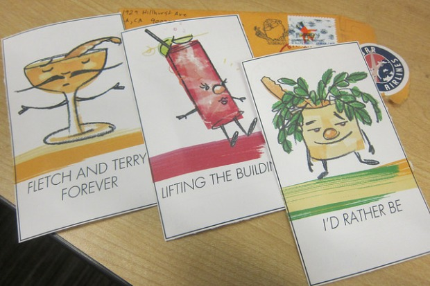 This year's drink postcards