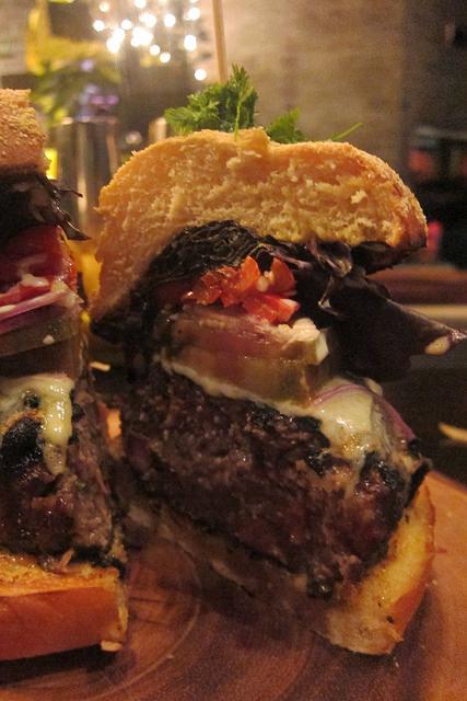 interior of the burger
