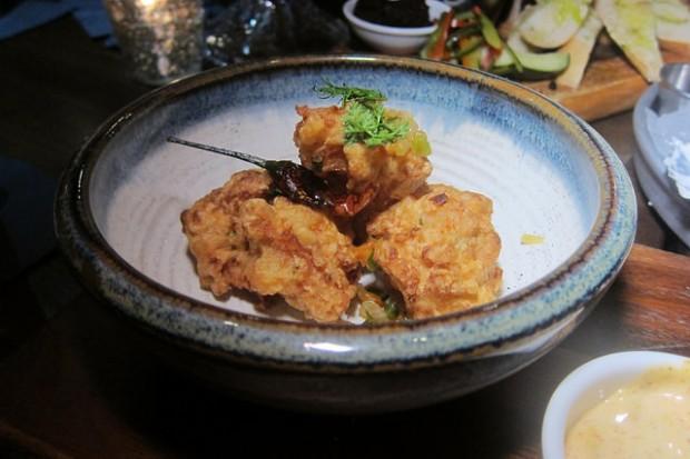 shrimp beignets