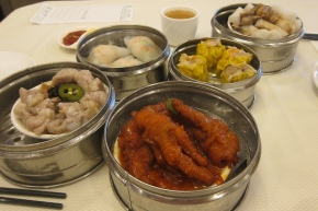 dim sum spread at Top Island