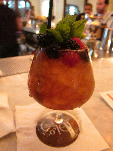 a sherry cobbler at Big Bar