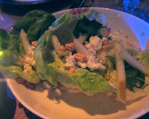 pear and bleu cheese salad