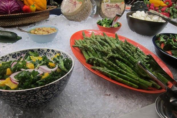 very fresh veggies