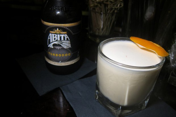 Abita and Rum Milk Punch