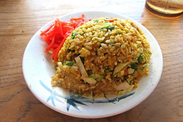 half order curry fried rice