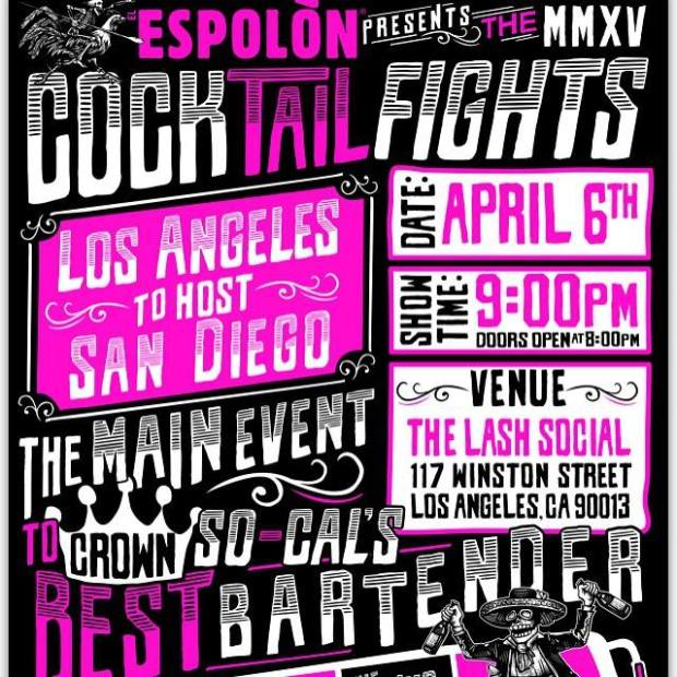Espolon Cocktail Fight, Monday, April 6 at the Lash
