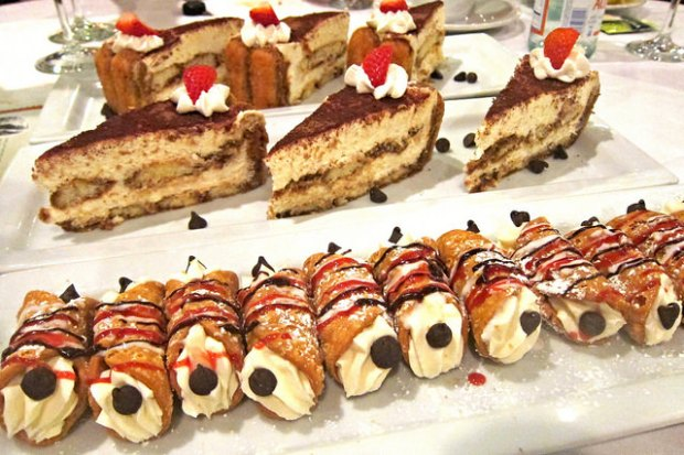 tiramisu and cannolis