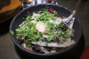 toasted farro risotto