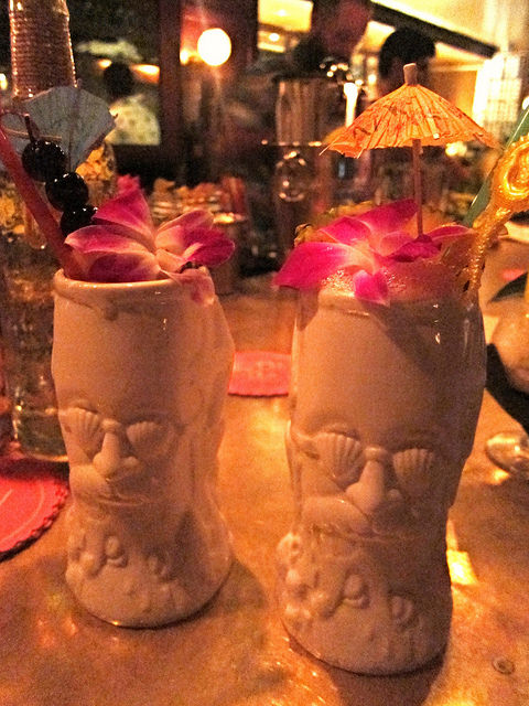 Three Dots and a Dash Tiki Mugs from the Paul McGee night