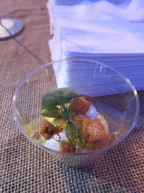 corn panna cotta, vadouvan, uni, rye from Chef Vartan Abgaryan