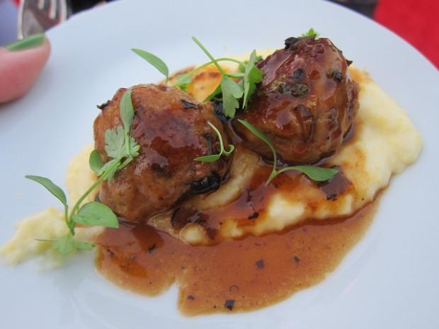 summer truffle duck tsukune (meatballs) with teriyaki glaze from Chef Wonny Lee, Hamasaku