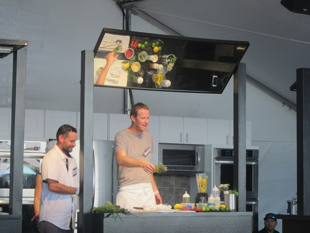 Chef CJ during a cooking demonstration from last year's The Taste