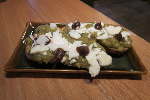 molletes - smashed peas toast